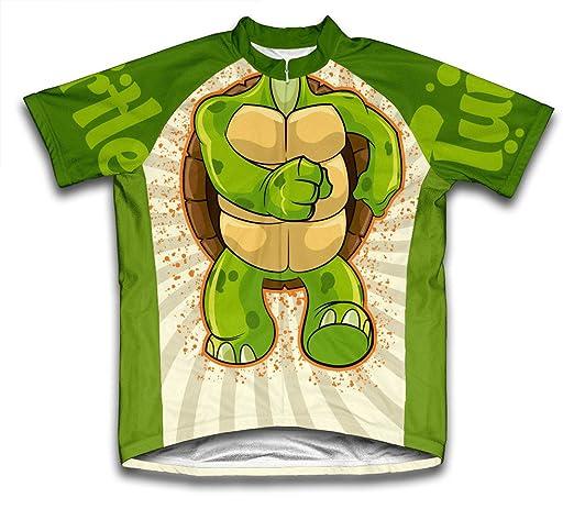 Tortuga Manga Corta Ciclismo Jersey para los Hombres: Amazon ...