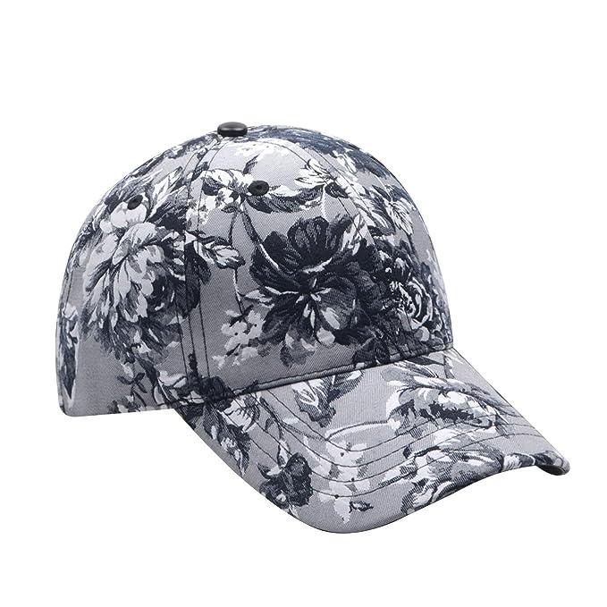 47f77aa6bbe Hatphile Womens Floral Jacquard Black Dad Cap (Grey) at Amazon ...