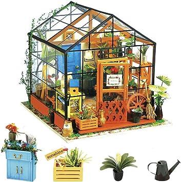 Oferta amazon: Rolife 3D DIY Modelo de casa de muñecas con Luces Miniatura de Madera Kits de Muebles niñas-niños 14 15 16 17 18 años de Edad hasta Juguetes(Cathy's Flower House)