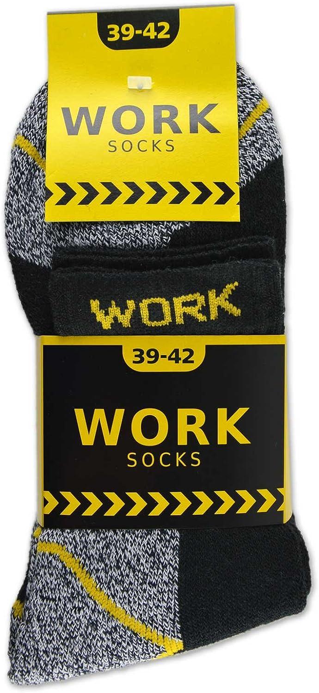 sockenkauf24 10 Pares Calcetines de trabajo cortos Hombre reforzados Algod/ón WORK