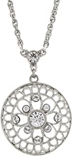 product image for 1928 Jewelry Filigree and Crystal Pendant Necklace