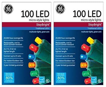Ge Led Christmas Lights.Amazon Com Ge Staybright Micro Style Led Christmas Lights