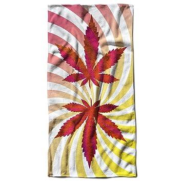 Erba 420 Pentola Rasta marihuana 70 cm x 150 cm toalla de playa | Wellcoda: Amazon.es: Hogar
