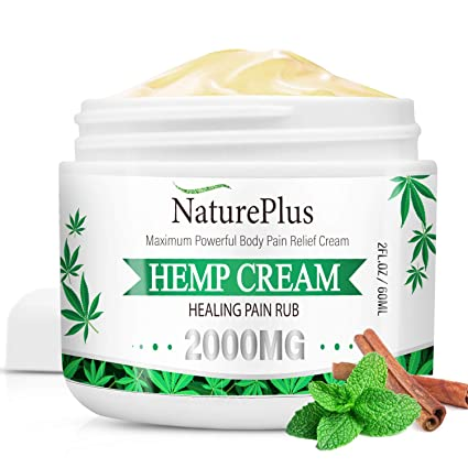 nature plus hemp cream, healing pain rub