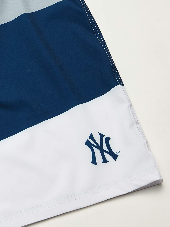 FOCO MLB Mens Cropped Logo Colorblock Boardshort