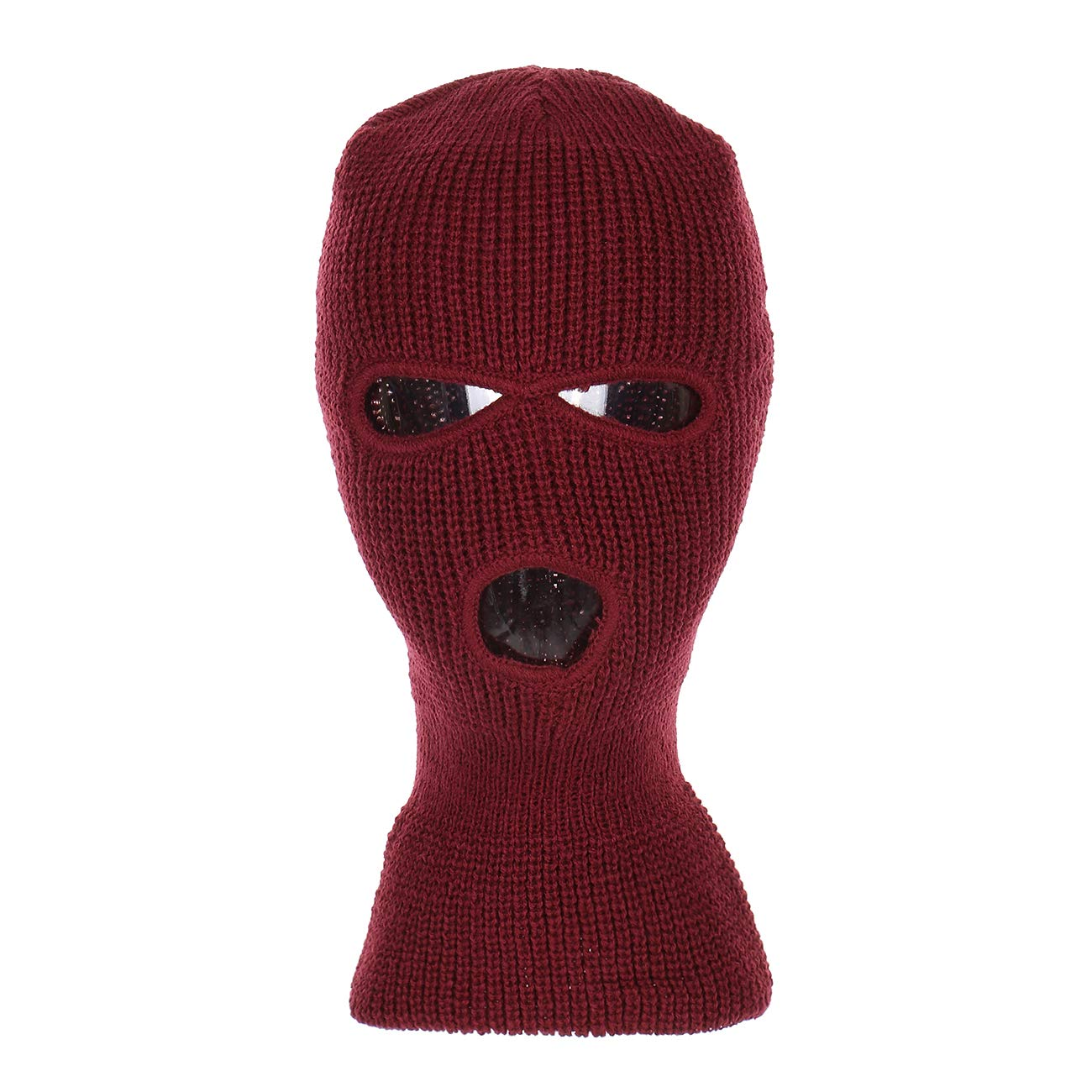 6cf02ca3d09 Knitted 3-Hole Full Face Cover Ski Mask at Amazon Men s Clothing store