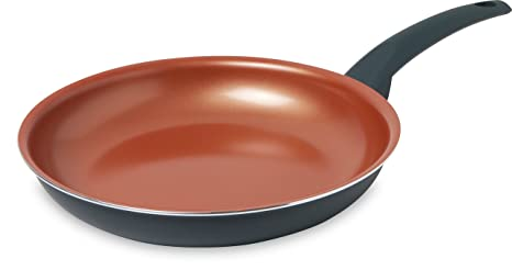 IKO Copper Ceramic Non Stick Fry Pan Dishwasher Safe with Soft Touch Handle (10 inch