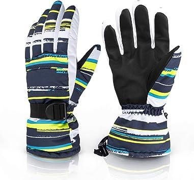 30°F Mens Waterproof Winter Snow Ski Snowboard Windproof Thinsulate Warm Gloves