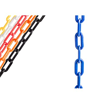 US Weight Chainboss Blue Plastic Safety Chain with Sun Shield UV Resistant Technology - 10 ft, U2310BLU: Industrial & Scientific