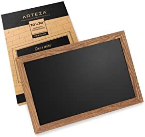 Arteza Magnetic Chalkboard for Walls, 20x30 Inch, Easy to Mount, Rustic Pine Wood Frame, Black Chalk Board Sign for Kitchens, Cafes, Stores & Special Events
