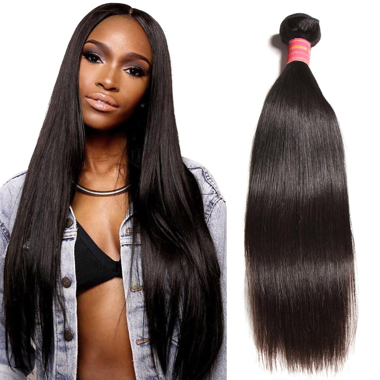 Amazon.com   Donmily 10A Brazilian Straight Human Hair 1 Bundle 100 ... 8eb6655e0cf3