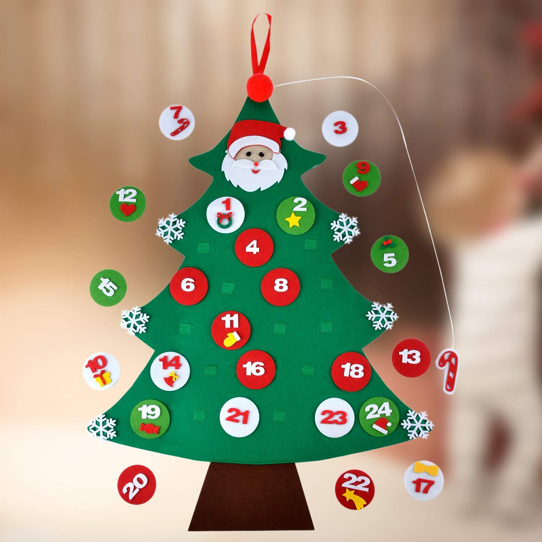 Felt Christmas Tree, Outgeek Advent Calendar Tree DIY Christmas Tree ...