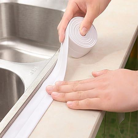 Seal Strip, Essort Self Adhesive Sink Waterproof Tape, Kitchen Bathroom  Shower Toilet Sealant,