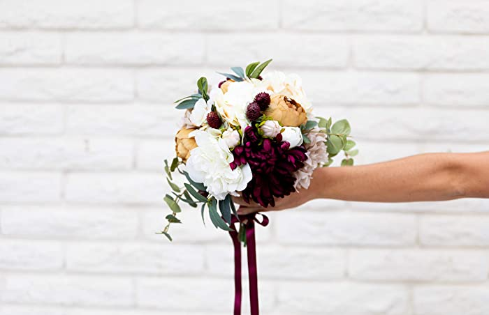 def86f2a06c88b Amazon.com  Silk Flower Bouquet Bridal