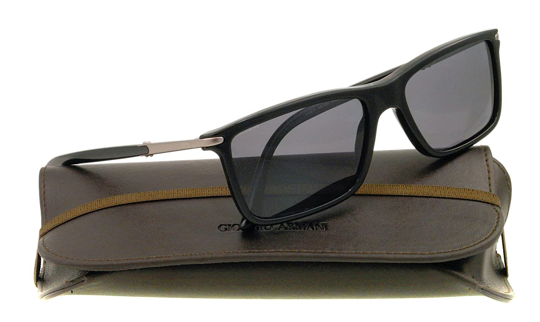 1121b528ad5f Giorgio Armani Men s 8010 Black Frame Polarized Grey Lens Plastic Sunglasses   Amazon.co.uk  Clothing