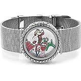 LovelyJewelry Christmas Style Living Memory Locket Bracelet Fit Floating Charms