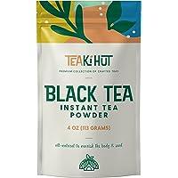 TEAki Hut Instant Black Tea Powder | Zero-Cholesterol Powdered Black Tea Leaves | Unsweetened Instant Tea Mix for Hot…