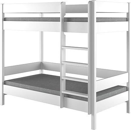 Childrens Beds Home Literas - Niños Niños Juniors Individuales Sin colchón y sin cajones (180x90, Blanco): Amazon.es: Hogar