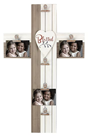 Amazon.com: Young\'s Blessed Wooden Cross Photo Picture Frame, 15\