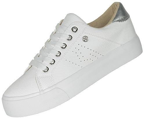 Beppi Zapatillas Casual Blancas para Mujer: Amazon.es: Zapatos y complementos