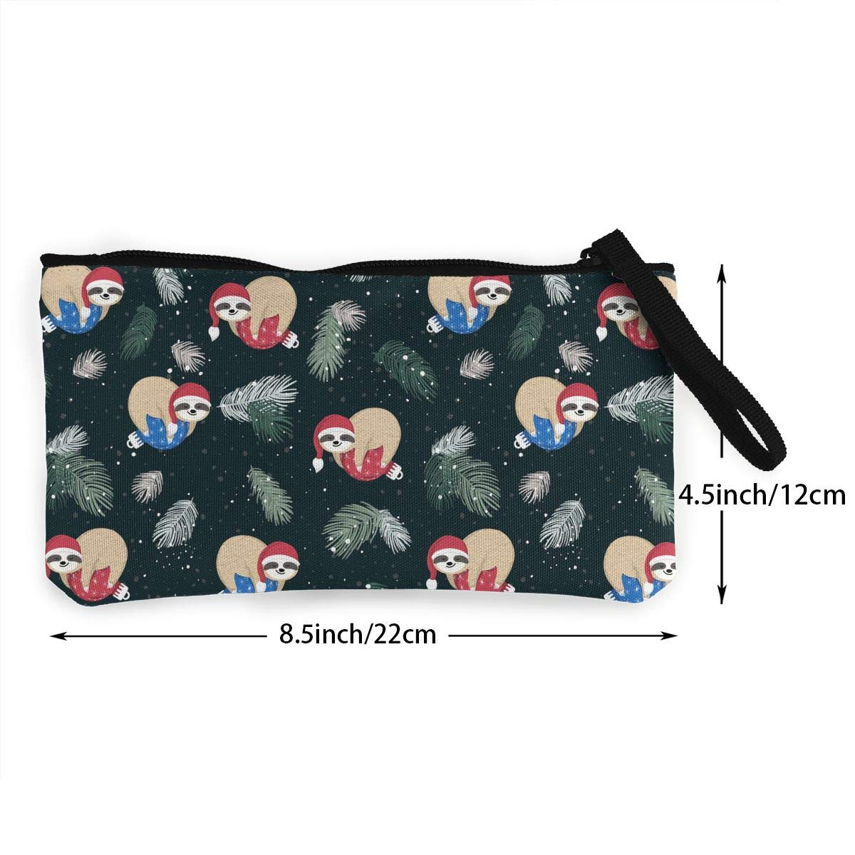 Cute Baby Sloths Sleeping Pattern Canvas Card Wallet with Zipper for Women Bk55Oi/&/& Womens Retro Purse