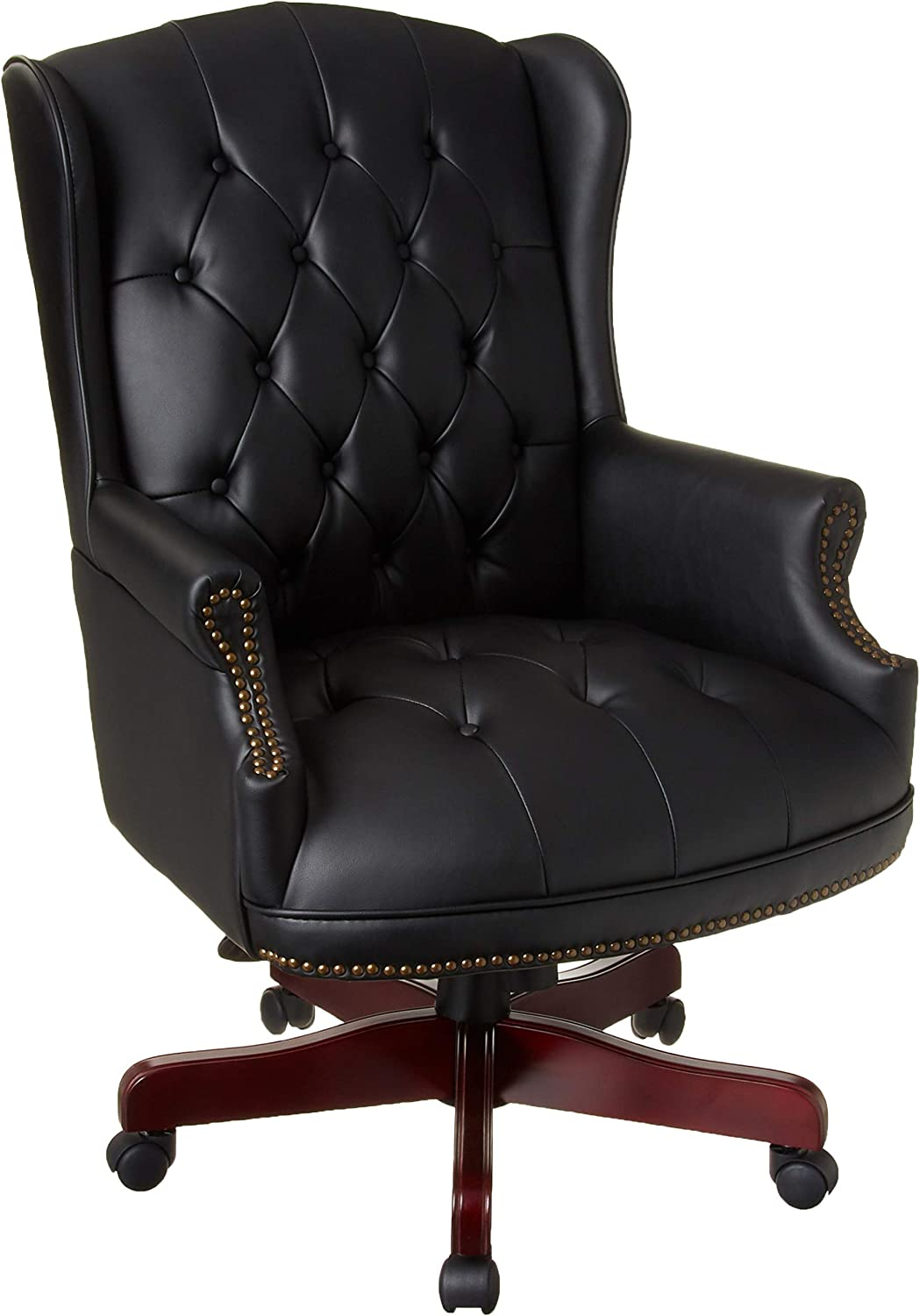 Boss Office Products Wingback Traditional Chair in Black