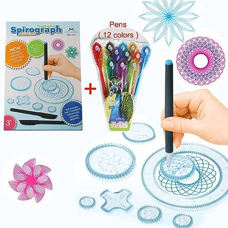 MC CHENMEI® Espirógrafo Deluxe de diseño conjunto con 12 colores de los juguetes educativos de