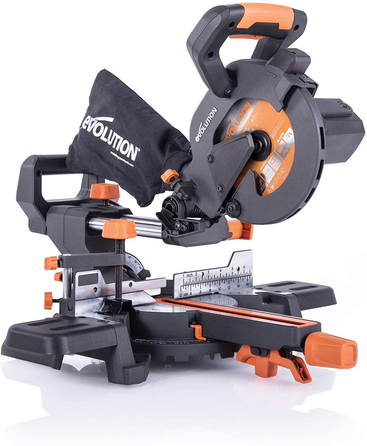 4. Evolution Power Tools R185SMS+ 7-1/4-Inch Multi-Material Compound Sliding Miter Saw