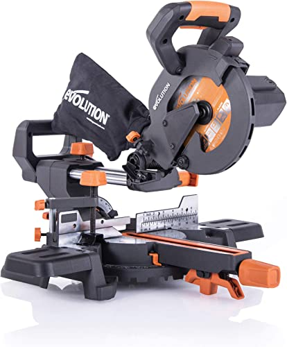 Evolution Power Tools R185SMS 7-1 4 Multi-Material Compound Sliding Miter Saw Plus