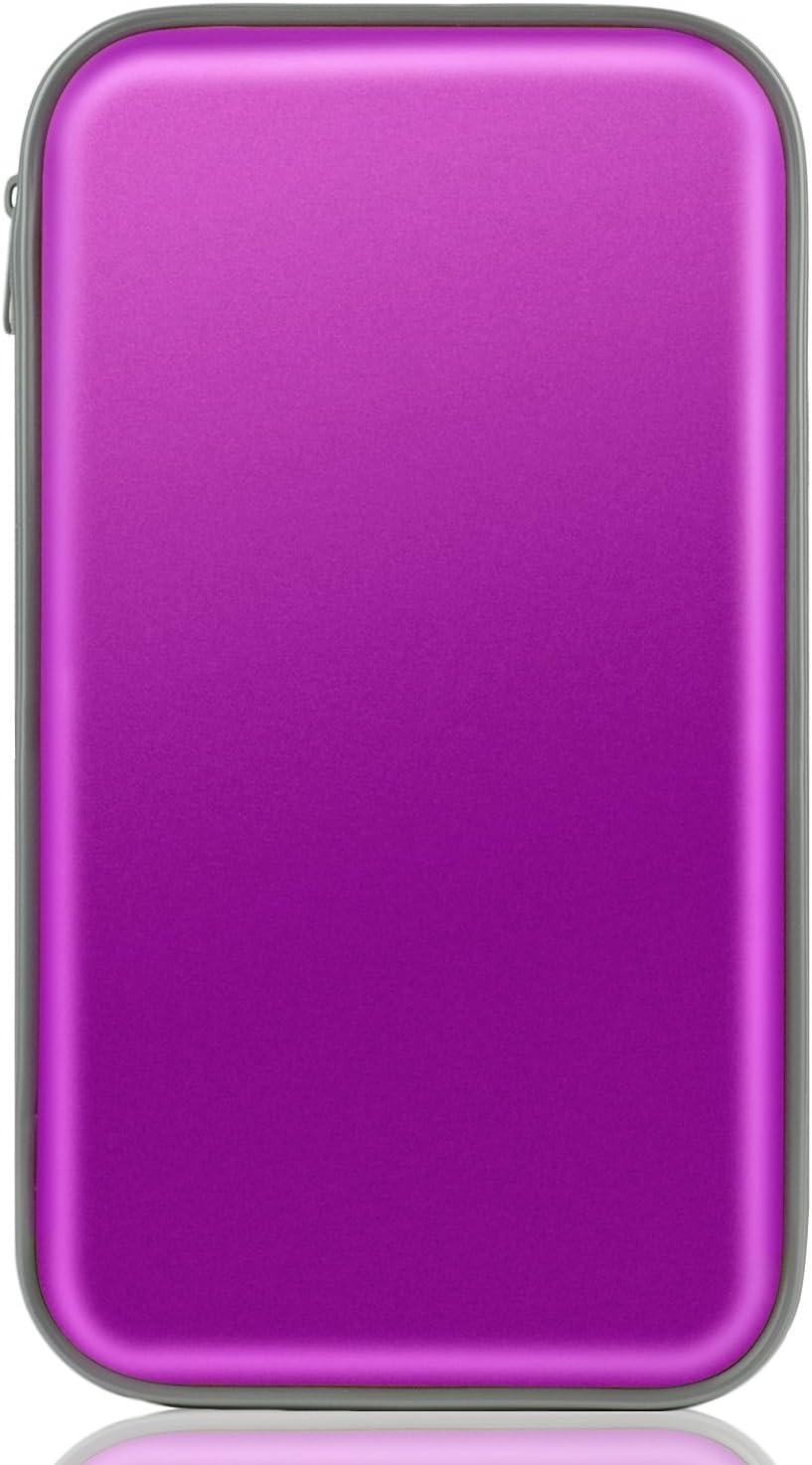 Coofit Cd Tasche Cd Case Cd Dvd Vcd Wallet Aufbewahrungs Für 80 Cds Dvds Tasche Mappe Blau Violett Auto