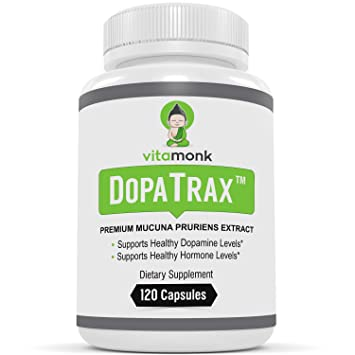 DopaTrax - Premium Mucuna Pruriens Supplement by VitaMonk - Naturally Support Dopamine Balance - 750 mg