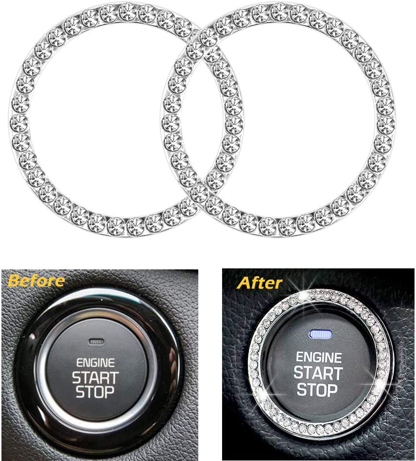 Auto Engine Start Stop Decoration Interior Ring Decal Vehicle Engine Ignition Button Key Knobs Sticker for BMW 3 Series E90 E92 E93 2008-2012 Multicolor FunDiscount Carbon Fiber Ring for Car Decor