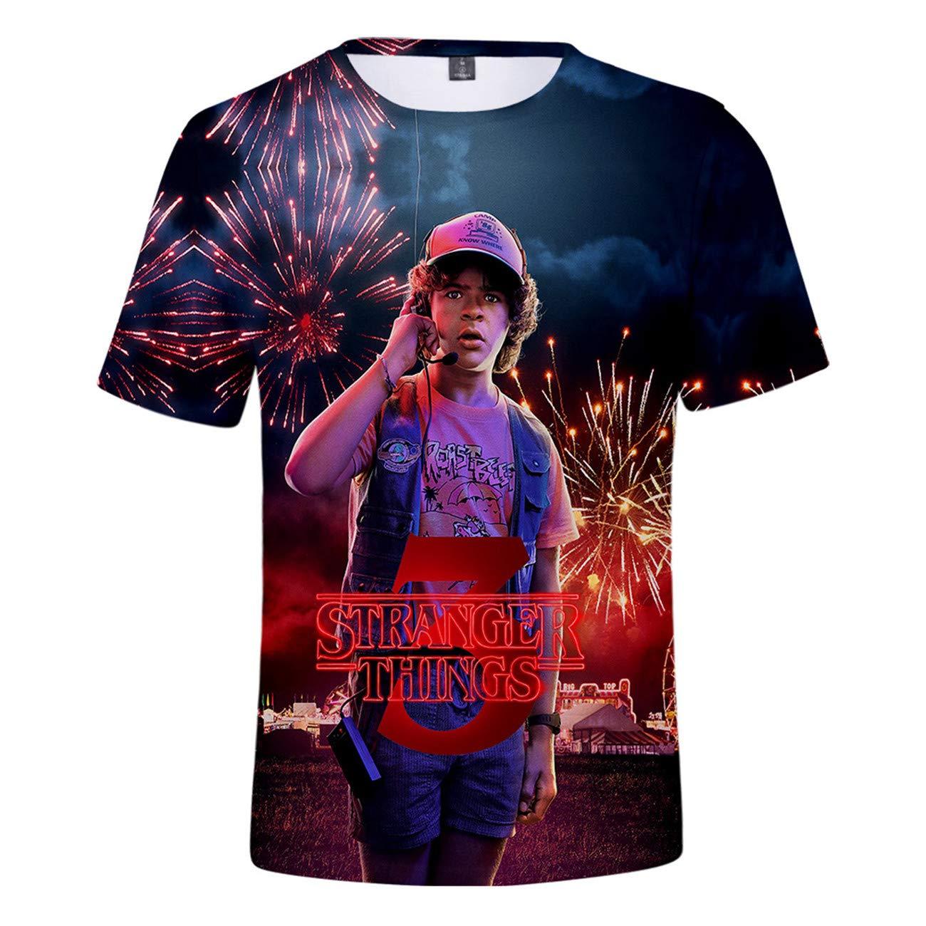 T-Shirt 3D Druck Shirt Charakter Druck L/ässig Personalisiert Atmungsaktiv Schnelltrocknend Kurzarm Top