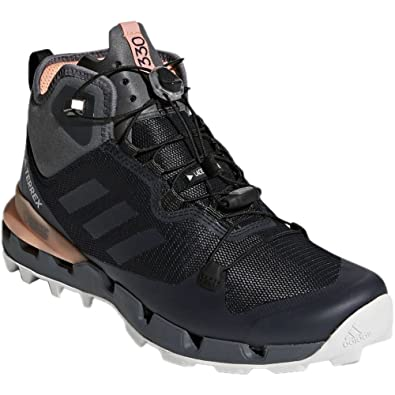 adidas Performance TERREX FAST MID GTX-SURROUND - Hiking shoes - black/grey 3RM3t0NN4i