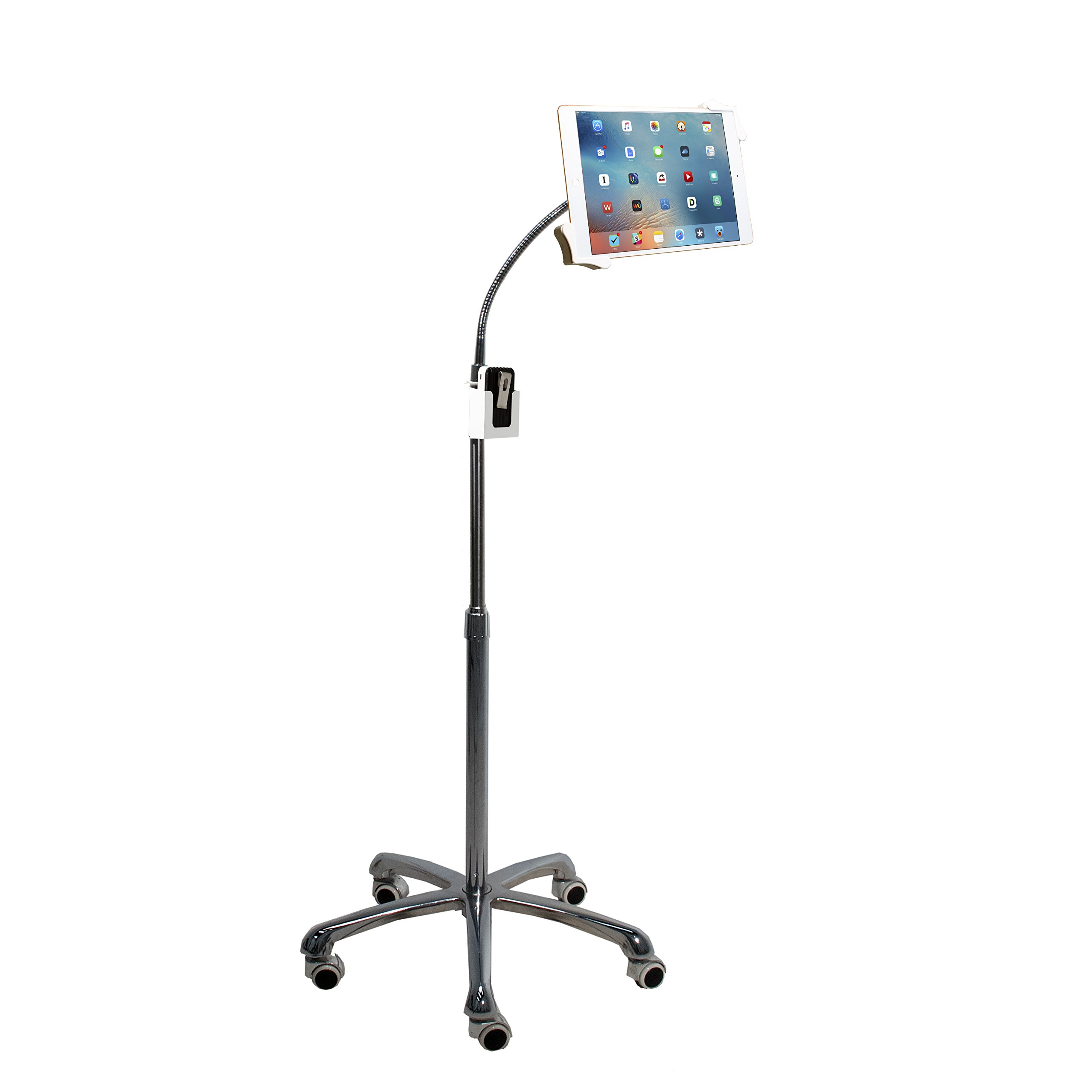 CTA Digital PAD-HFS Heavy-Duty Gooseneck Floor Stand for 7-13'' Tablets