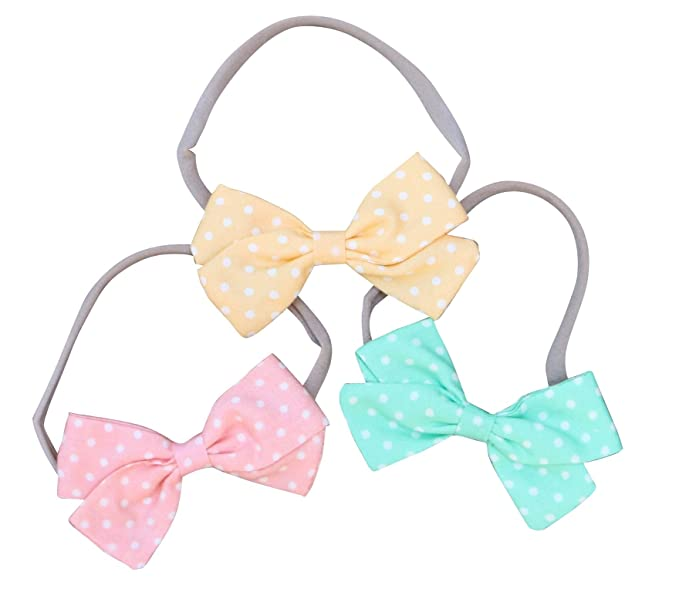 Baby & Toddler Clothing Baby Girl Soft Nylon Headband Bows Clothing, Shoes & Accessories
