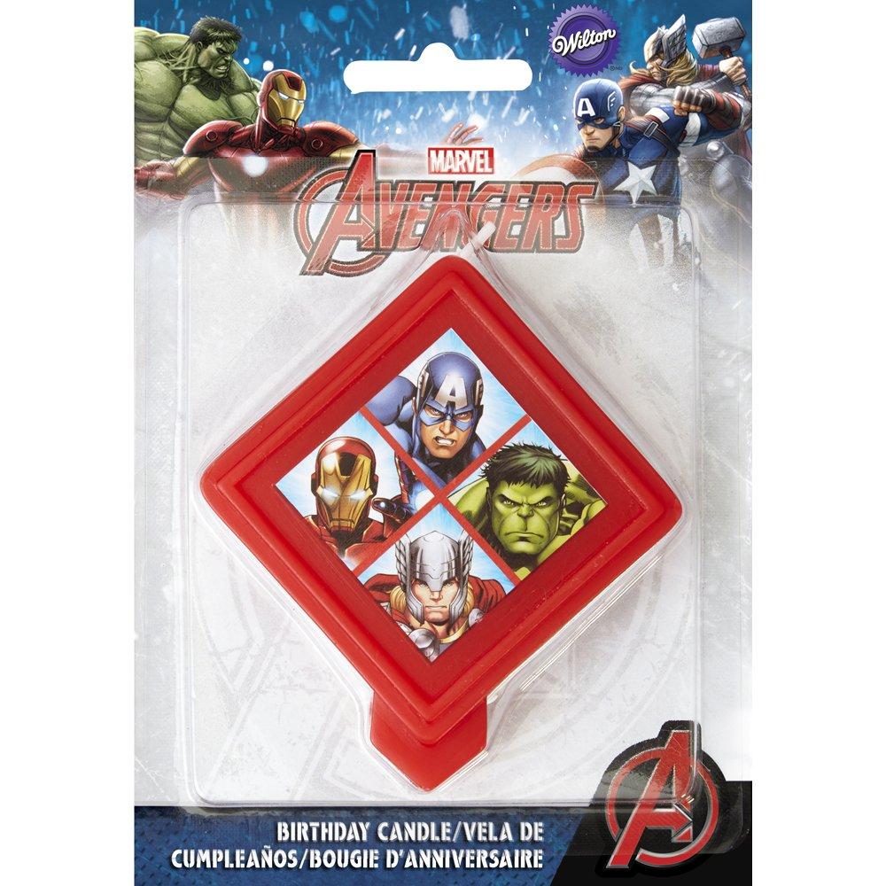 Amazon.com: Wilton – Marvel Avengers Vela de cumpleaños ...