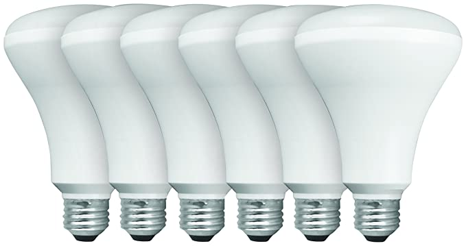 low priced 98815 d120e TCP BR30 Recessed LED Flood Light Bulbs, 65W Equivalent, Non-dimmable, Soft  White, Value (6 Pack)