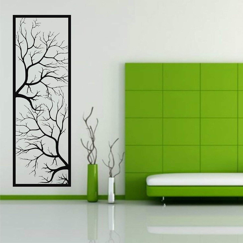 """Metal Wall Art, Metal Tree Wall Art, Tree Sign, Metal Wall Decor, Metal Branch Wall Decor, Geometric Art (16""""W x 47""""H / 40x118 cm)"""