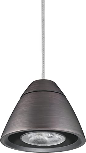 Lithonia Lighting MDPB BZ M6 Dimmable Bullet LED Mini-Pendant Fitter, 9 Watts, Bronze