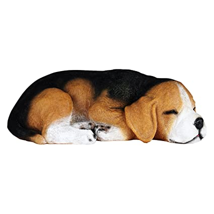 Wonderland Beagle Dog Sleeping Statue, Real Looking Made Of Polyresn. Garden  Decoration, Home