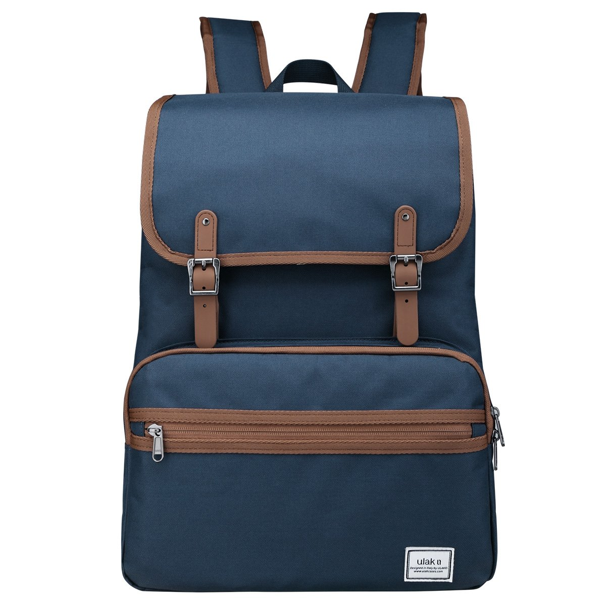 Laptop Backpack, Lightweight College School Backpack,Travel Every Day Backpack,ULAK Slim Anti Theft Computer Book Bags Water-resistant Eco-friendly Bag Fits Under 15.6'' Laptop & Note Book- Navy Blue