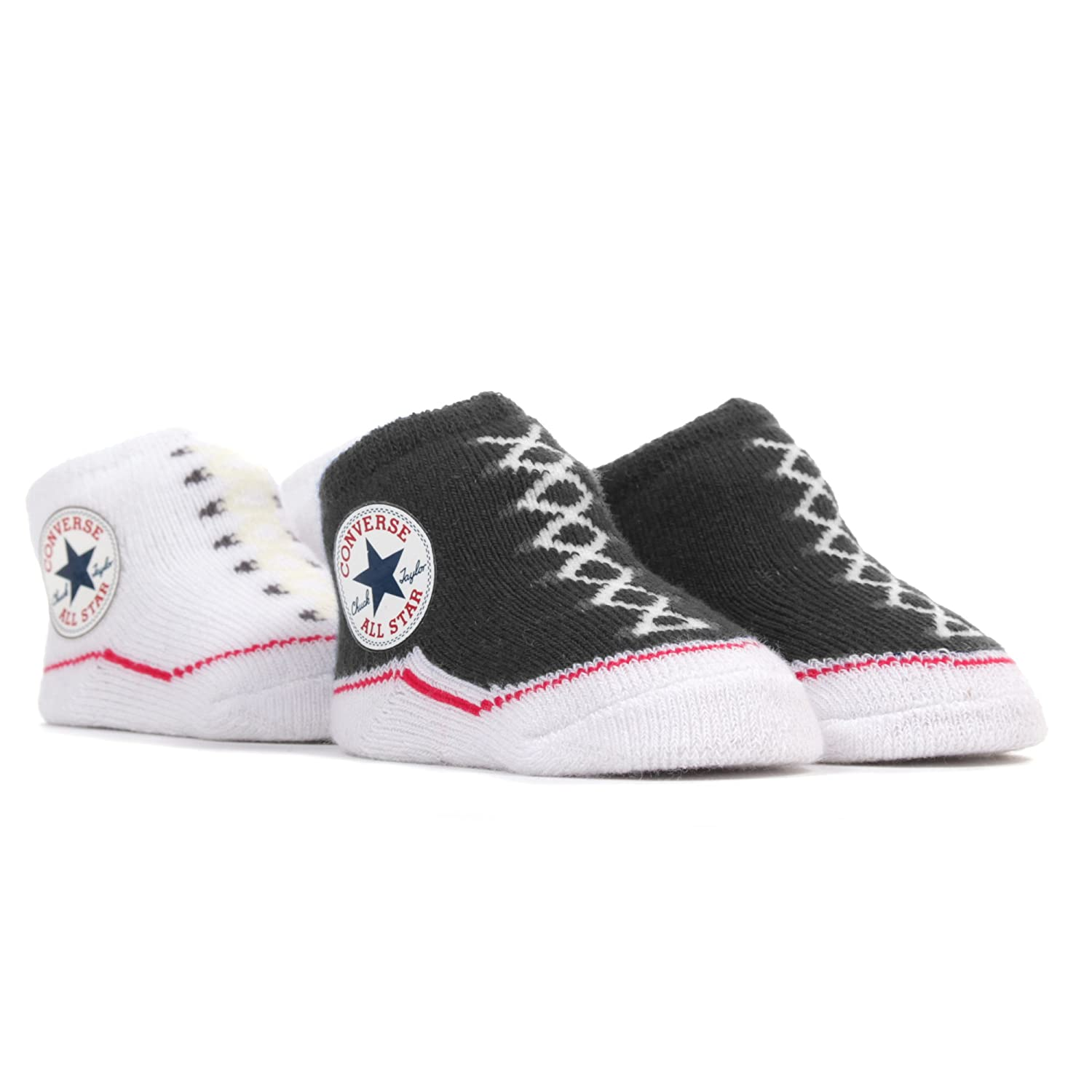 53a075d3902ef Converse Baby-Girls 2 Pack Booties Socks