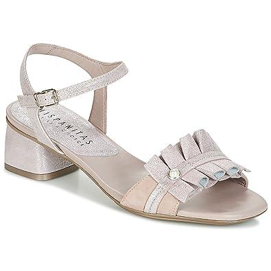 d256df772c52b9 Hispanitas Samoa-4 Sandalen Sandaletten Damen Nude - 36 - Sandalen  Sandaletten