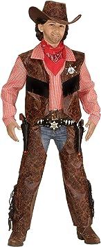 WIDMANN 05928, disfraz de Cowboy de la camisa con chaleco, chaparreras y sombrero , color/modelo surtido: Amazon.es: Juguetes y juegos