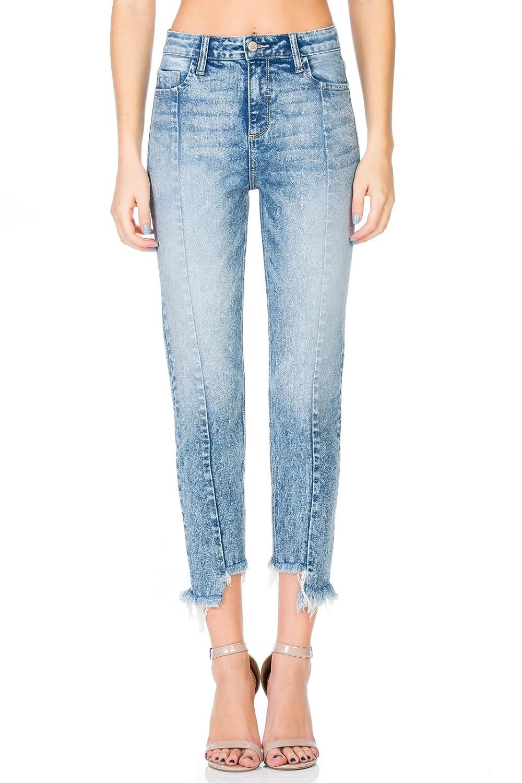 33b2d78e7a Cello Jeans Super High Rise Uneven Hem Straight at Amazon Women's Jeans  store