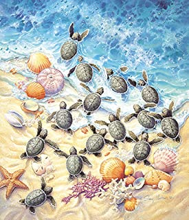 product image for SUNSOUT INC Green Turtle Hatchlings 550 pc Jigsaw Puzzle