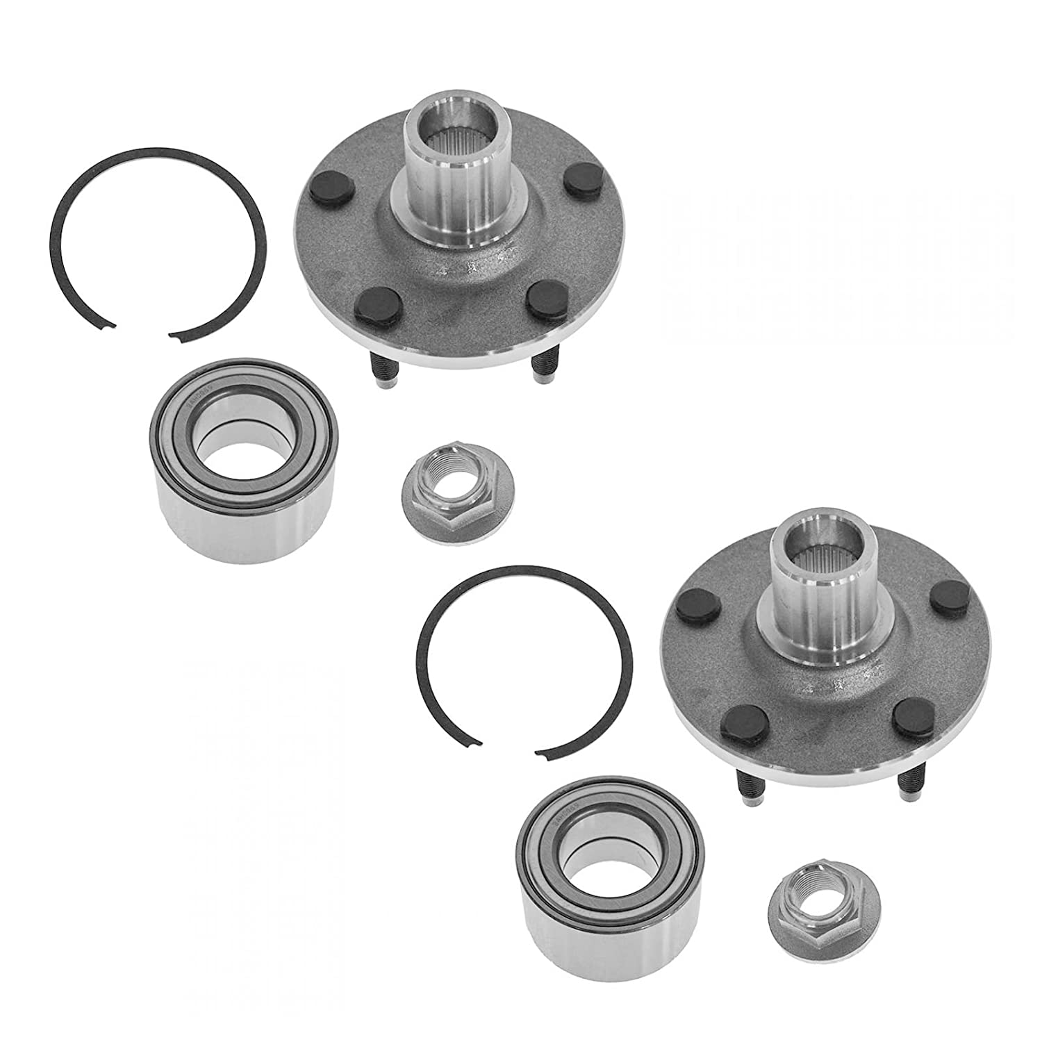 Front Wheel Hub /& Bearing Pair Set of 2 for Escape Tribute Mariner 5 Lug