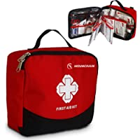 First Aid Kit - 148 Piece Aid Kit and Emergency First Aid Survival Kit for Home, Travel, Business, Camping, Sports, Emergency, Bonus Mini Travel Car First Aid Kit