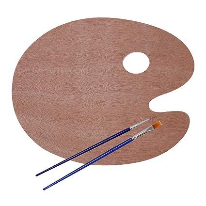 amazon com gookit wooden palette oval art artist paint palette tray